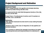project background and motivation