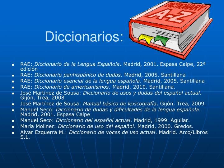 Diccionarios:
