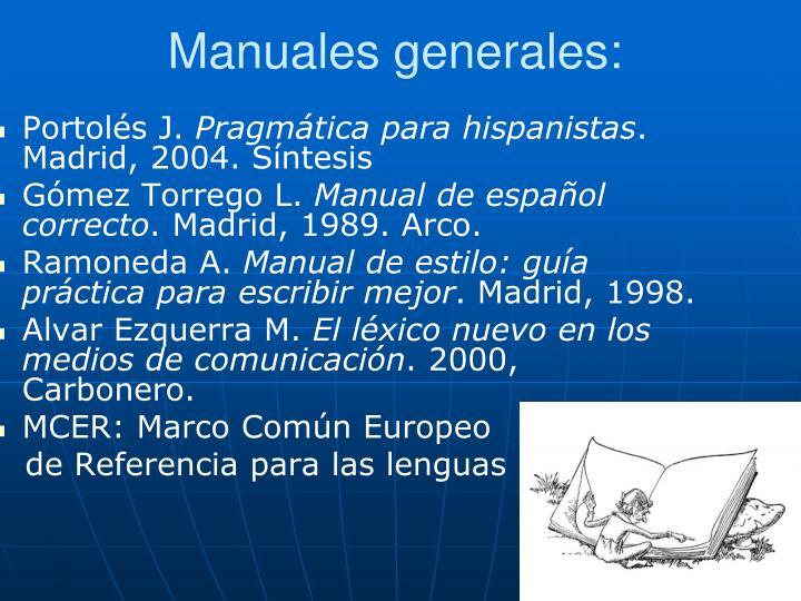 Manuales generales: