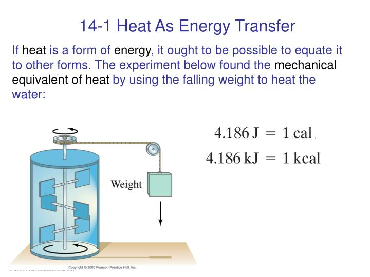 14-1 Heat As Energy Transfer