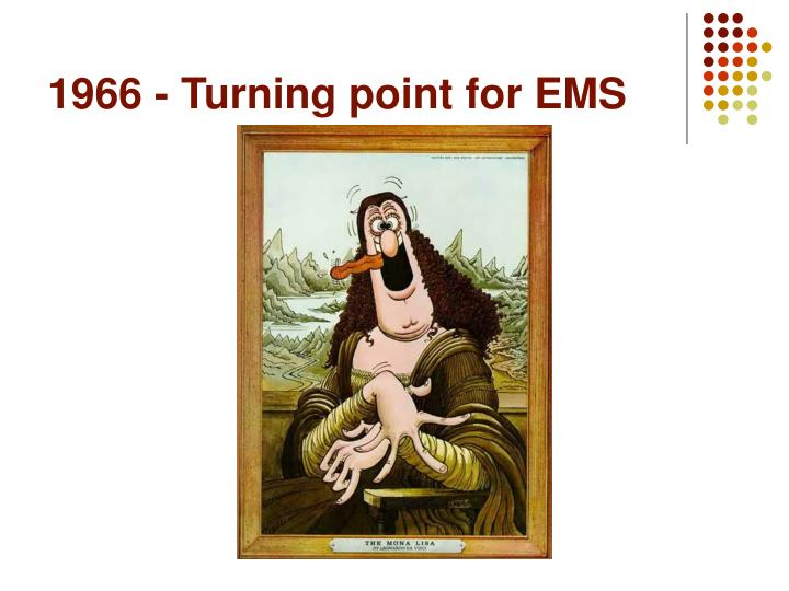 1966 - Turning point for EMS