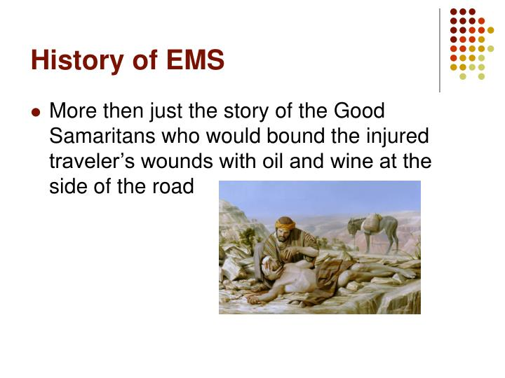 History of EMS