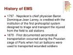 history of ems1
