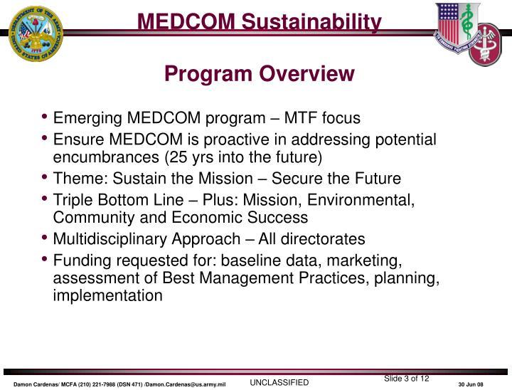 MEDCOM Sustainability