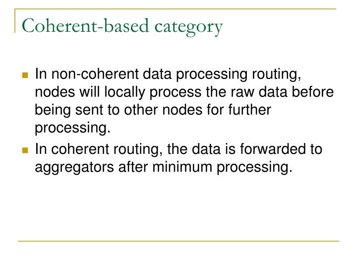 Coherent-based category