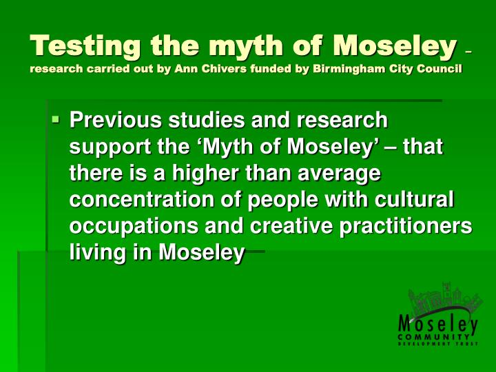 Testing the myth of Moseley
