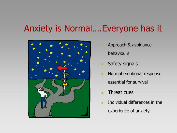 Anxiety is Normal….Everyone has it