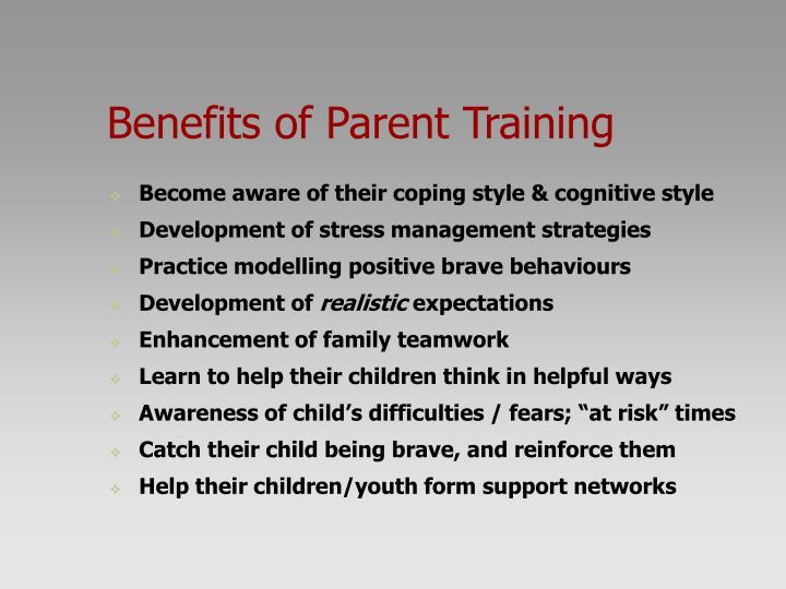 Benefits of Parent Training