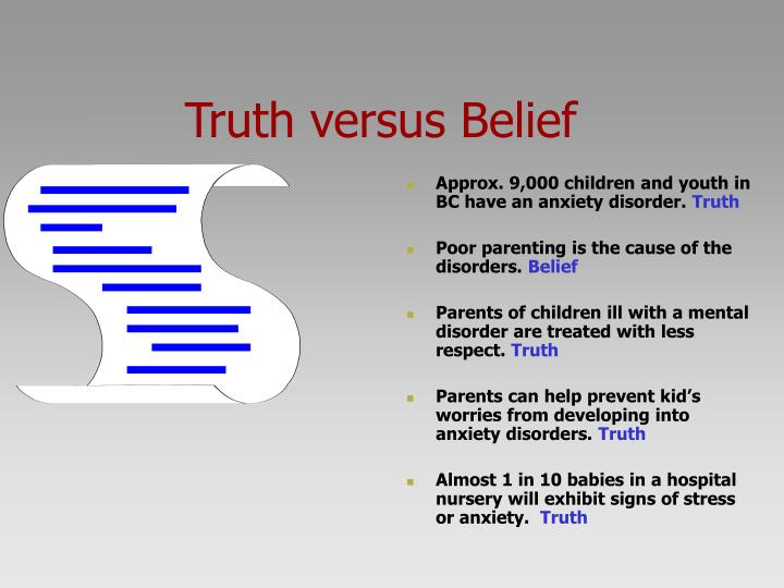 Truth versus Belief