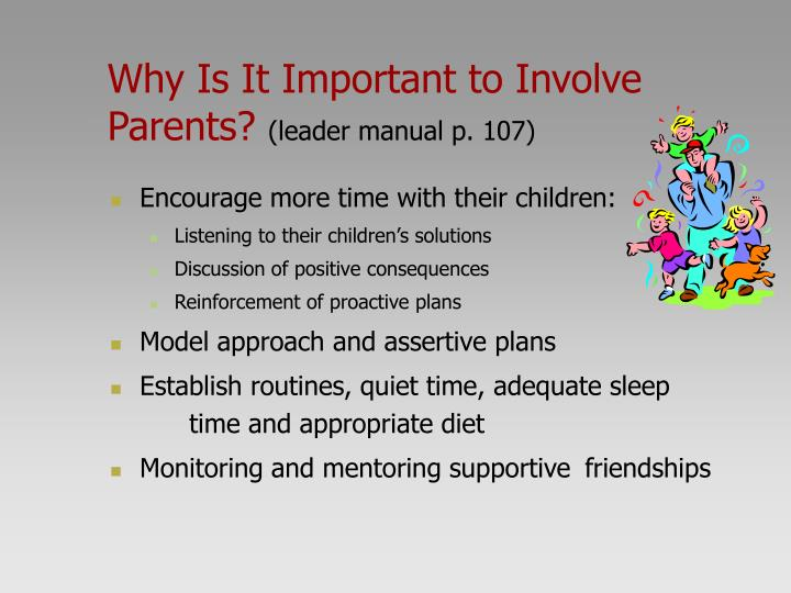 Why Is It Important to Involve Parents?