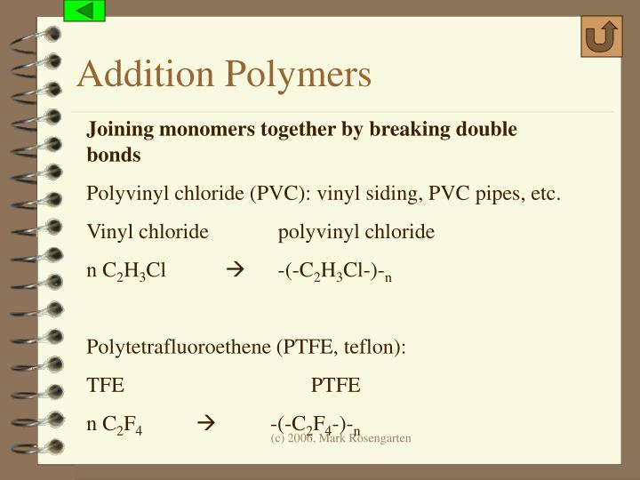 Addition Polymers