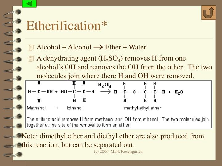 Etherification*