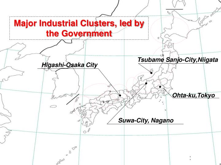 Major Industrial Clusters, led by the Government