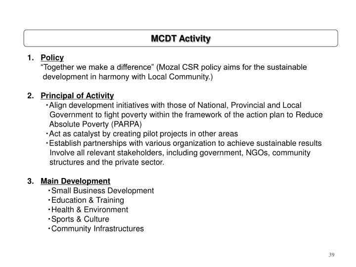 MCDT Activity