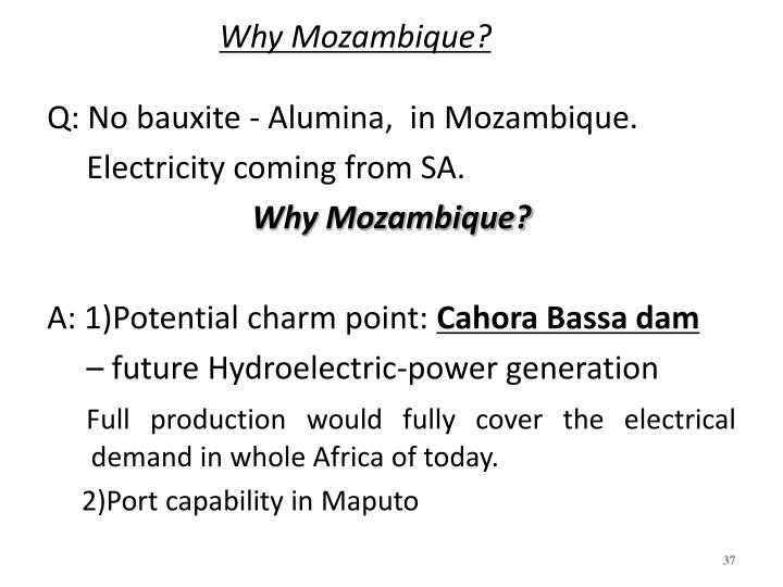 Why Mozambique?