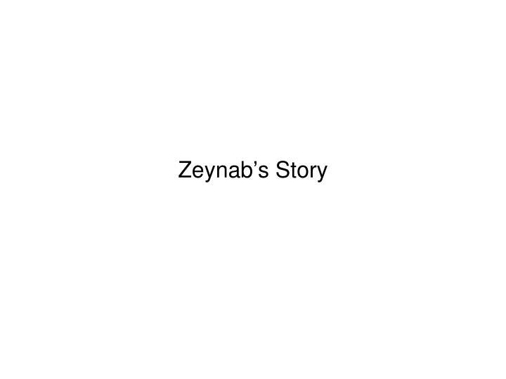 Zeynab's Story