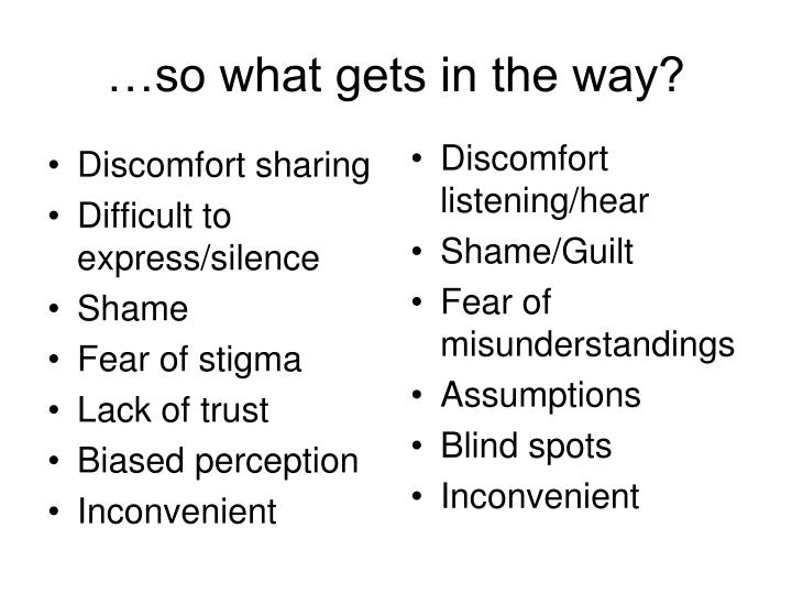 Discomfort sharing