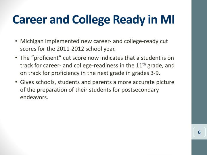 Career and College Ready in MI