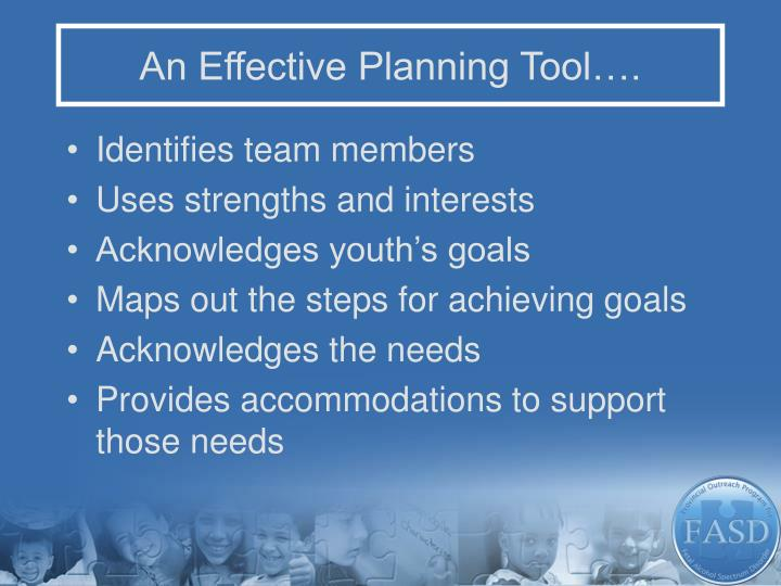 An Effective Planning Tool….