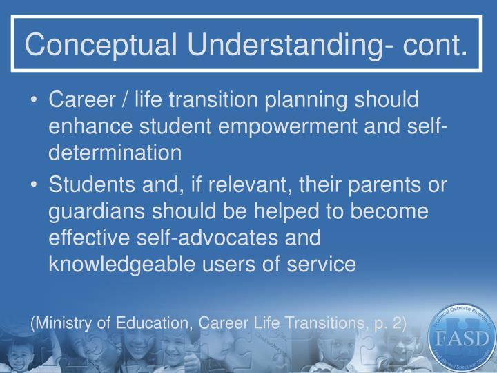 Conceptual Understanding- cont.