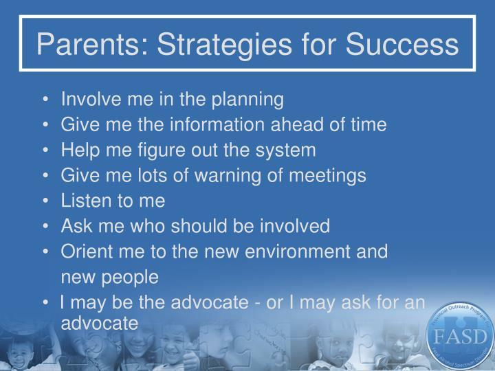Parents: Strategies for Success