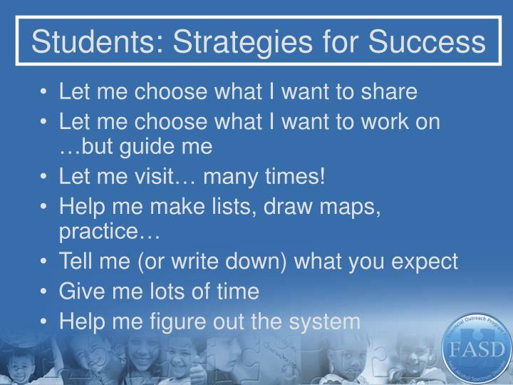 Students: Strategies for Success
