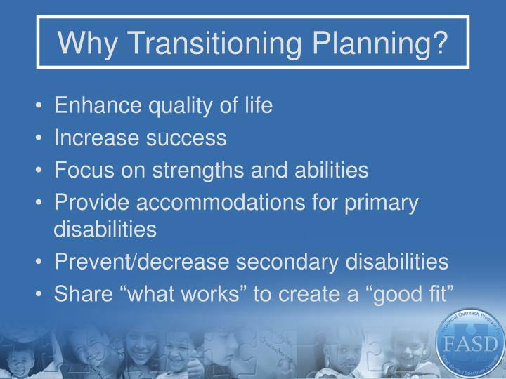 Why Transitioning Planning?