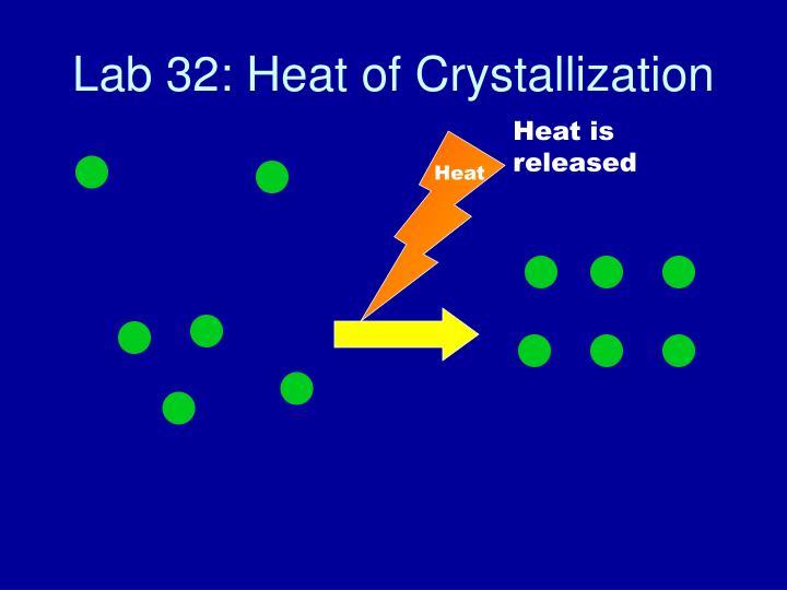Lab 32: Heat of Crystallization