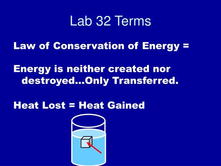 Lab 32 Terms