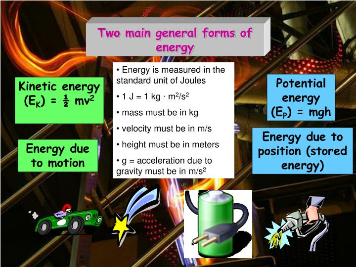 Two main general forms of energy