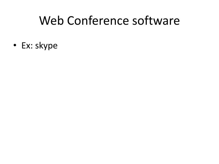 Web Conference software