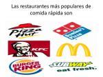 las restaurantes m s populares de comida r pida son