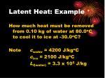 latent heat example