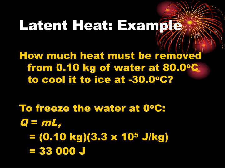 Latent Heat: Example