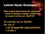 latent heat example6