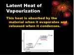 latent heat of vapourization2