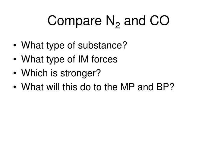 Compare N
