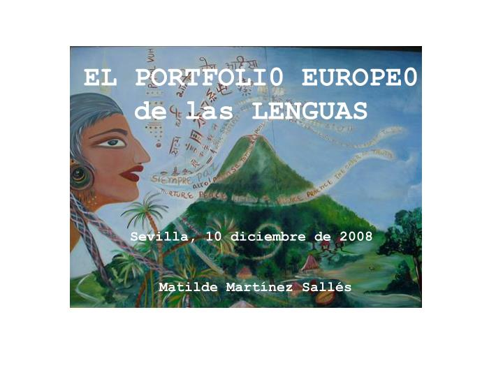 El portfoli0 europe0 de las lenguas