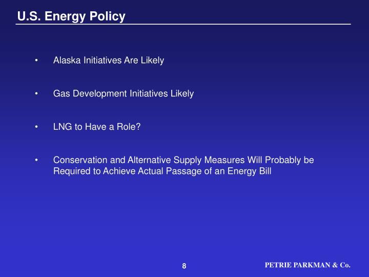 U.S. Energy Policy