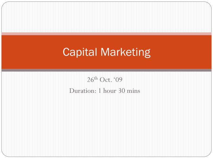 Capital marketing