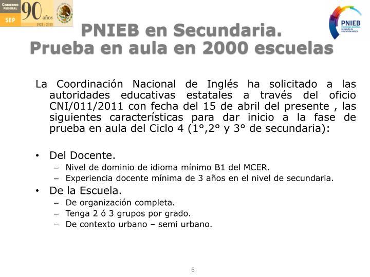 PNIEB en Secundaria.