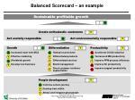 balanced scorecard an example