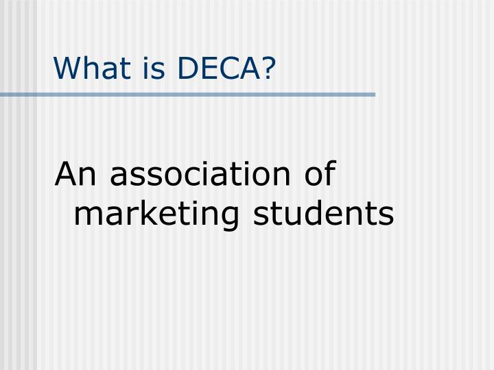 What is deca1