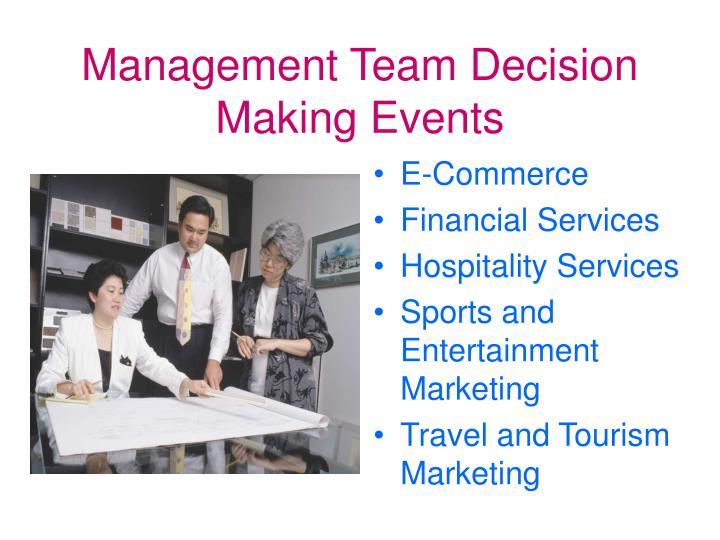 Management Team Decision Making Events