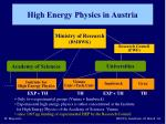 high energy physics in austria