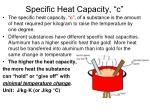 specific heat capacity c