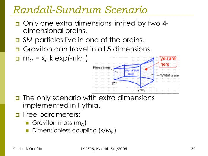 Only one extra dimensions limited by two 4-dimensional brains.
