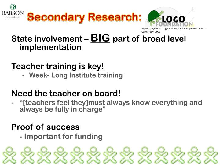 Secondary Research: