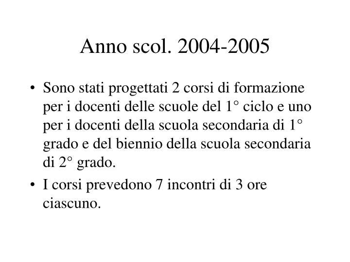 Anno scol. 2004-2005