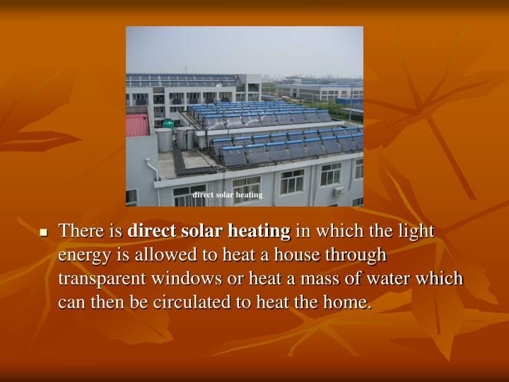 direct solar heating